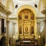 """El retablo es un """"trampantojo"""" pintado sobre un telón."""