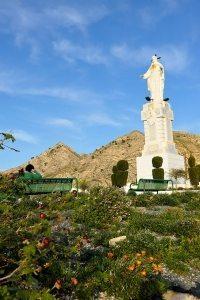 Sagrado Corazón de Jesús, presidiendo el Lugar Alto de Abanilla