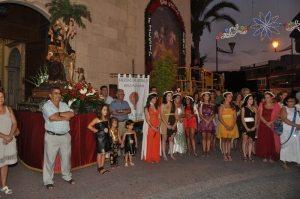 Fiestas patronales de Fortuna, pasacalles de San Roque en su honor.