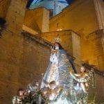 La Virgen de Yecla, en procesión de Semana Santa.
