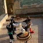 Coros y Danzas en el mirador del Castillo.- Autor Cayetano Herrero